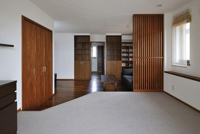 たっぷりの収納があるので広々と使える寝室