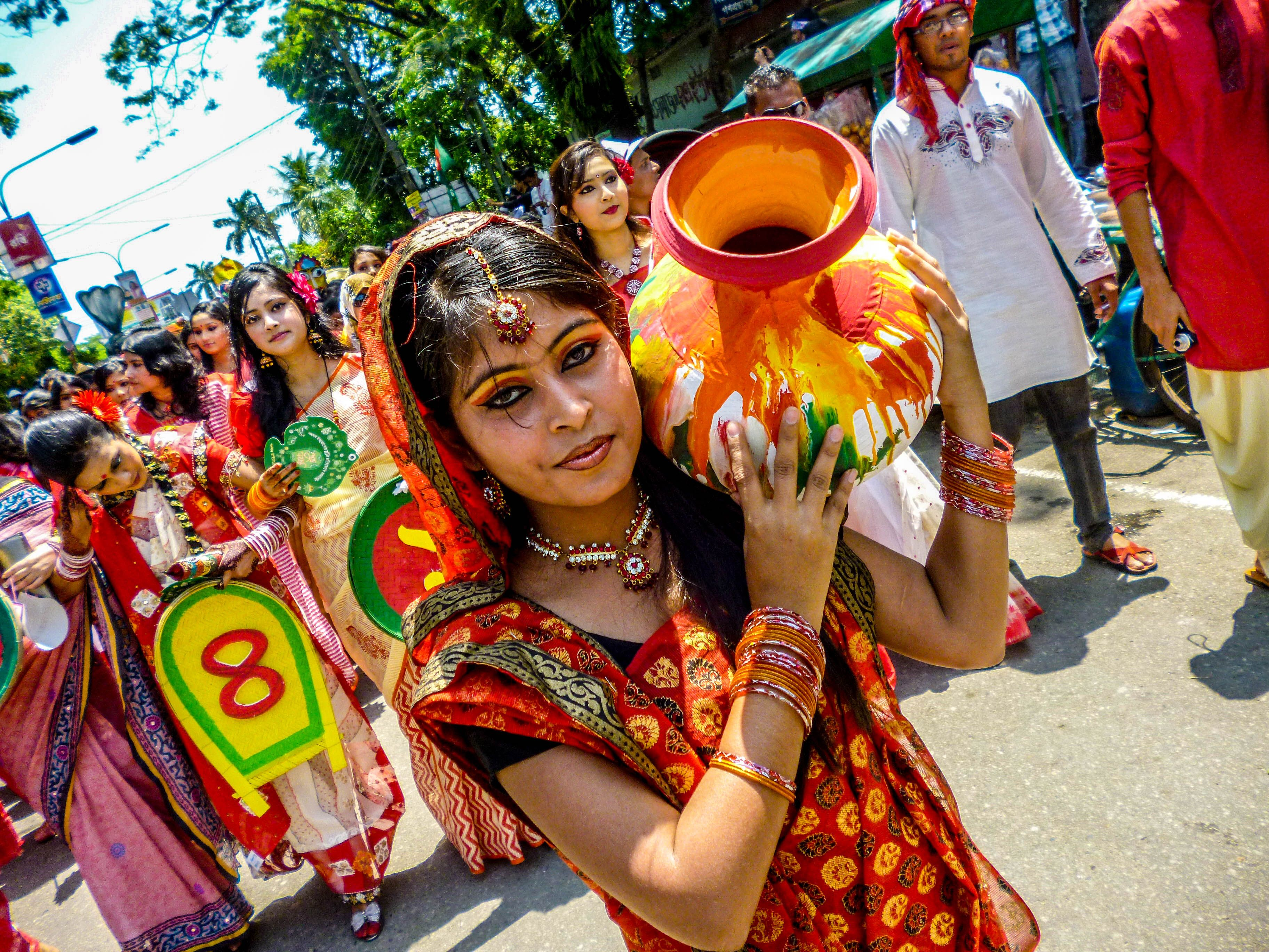 First day of spring ( pahela falgun) image by Moriom