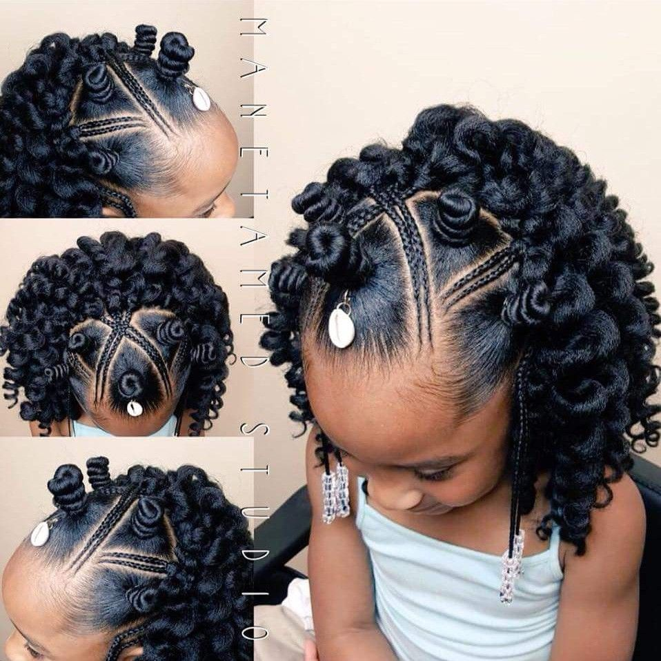 Bantu knot crochet. Back to school styles. Nubian knots. Feed in braids. Bantu k… | Girls ...