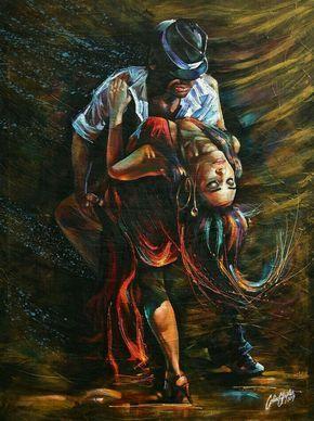 Los retratos acrílicos de Colin Staples  dintelo es is part of Tango art, Art, Dance paintings, Expressionist art, Dance art, Life art - Increibles figuras y retratos acrílicos pintados por Colin Staples, un artista que consigue expresar lo que ve en el alma de otro ser a través de una original mezcla de texturas y colores