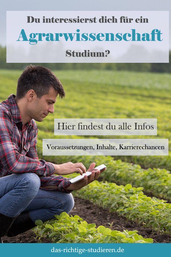 Agrarwissenschaften Studium