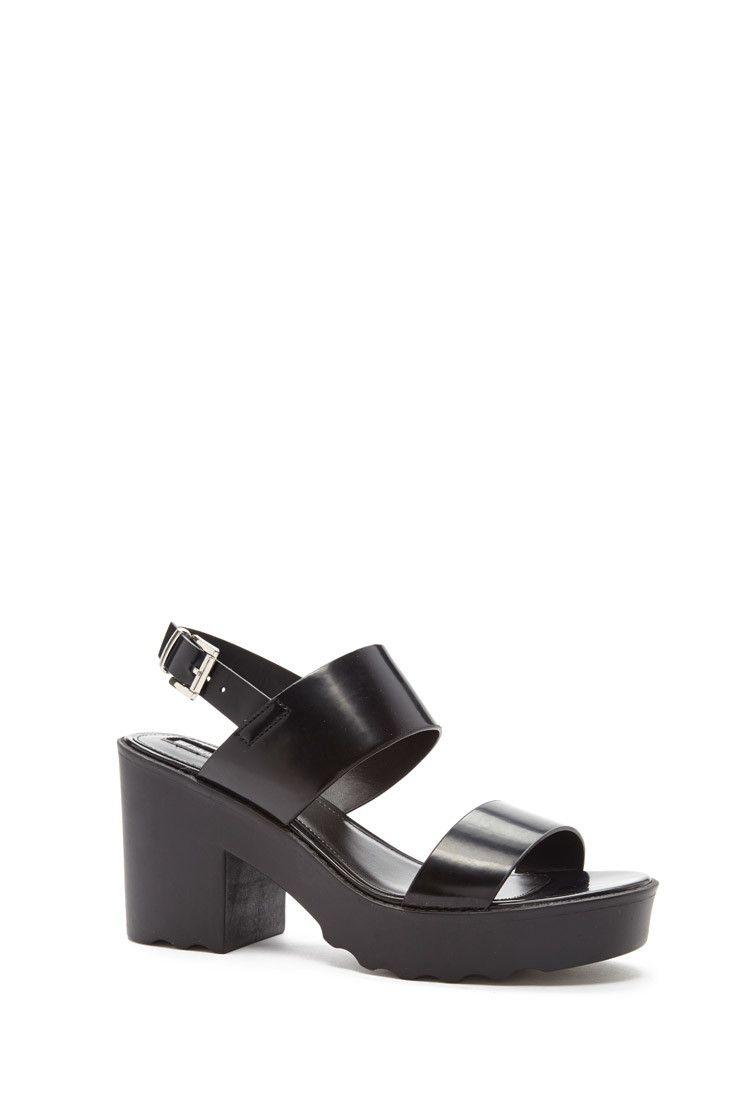 6e8f9ba1ee Lug Sole Platform Sandals | Forever 21 - 2000167813 | shoes ...