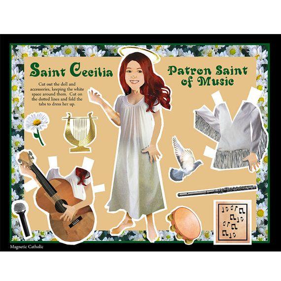 St Cecilia Patron Saint of Music dress up DIY by magneticcatholic