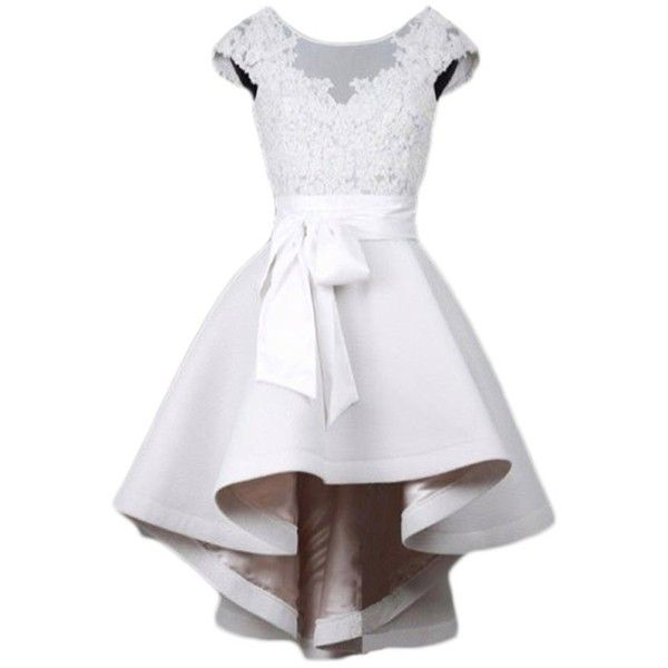 d94e6b93b70 TBGirl White Cap Sleeve High Low Homecoming Dresses Cocktail Party... ( 40)