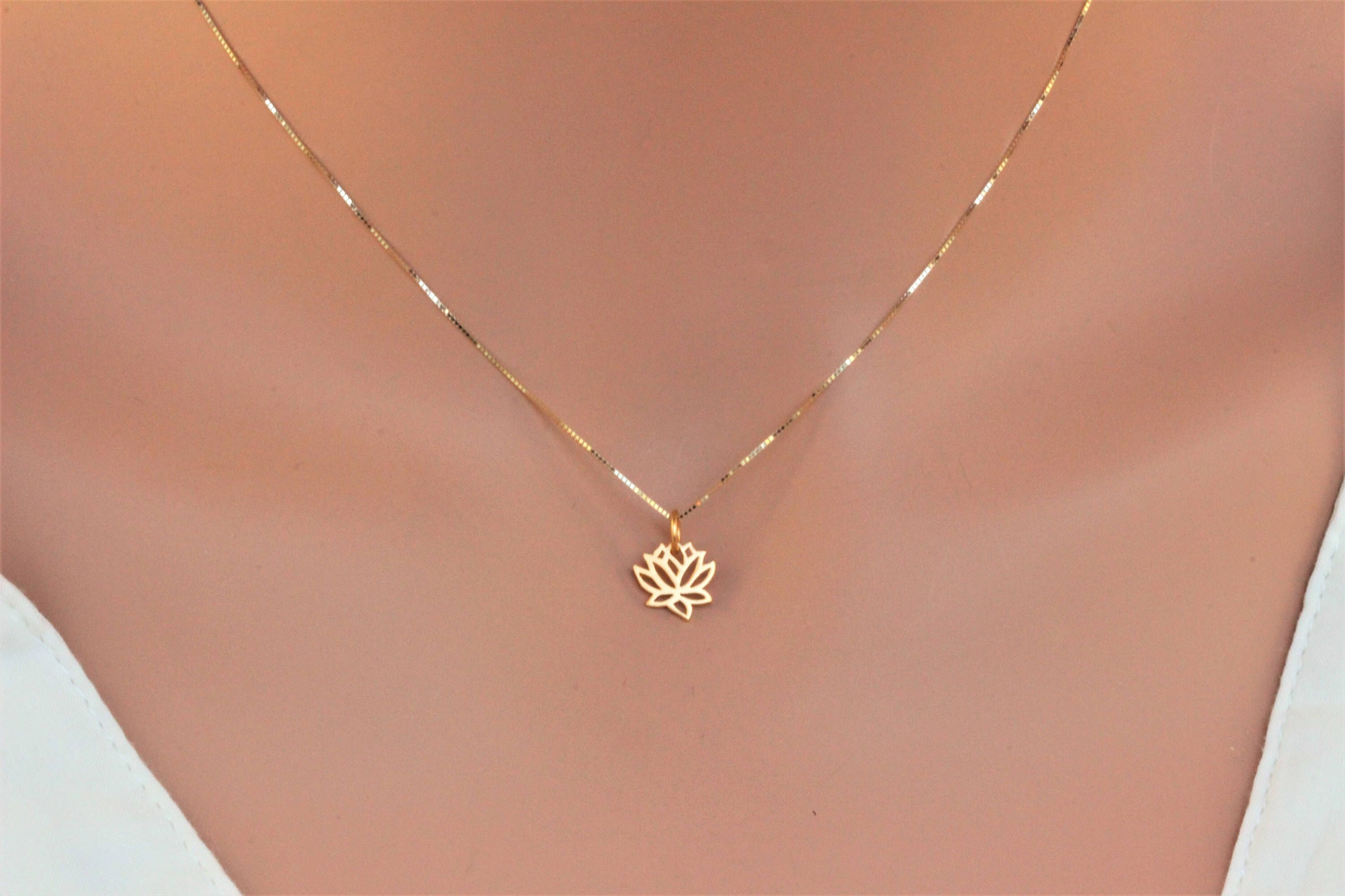 style flower img products in and silver necklace rose lotus handstamped allure gold yellow