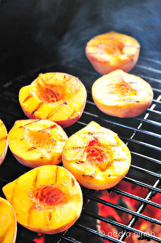 Grilled Peaches with Honey and Ice Cream Recipe