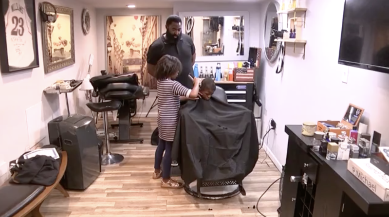 8 Year Old Girl Become Barber Gives Free Haircuts Kids Hairstyles Free Haircut The Neighbourhood