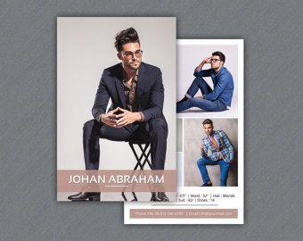 Modeling Comp Card Template   Fashion Model comp card   Photoshop ...