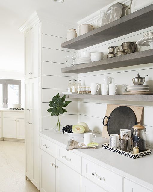 Grey Kitchen Shelves