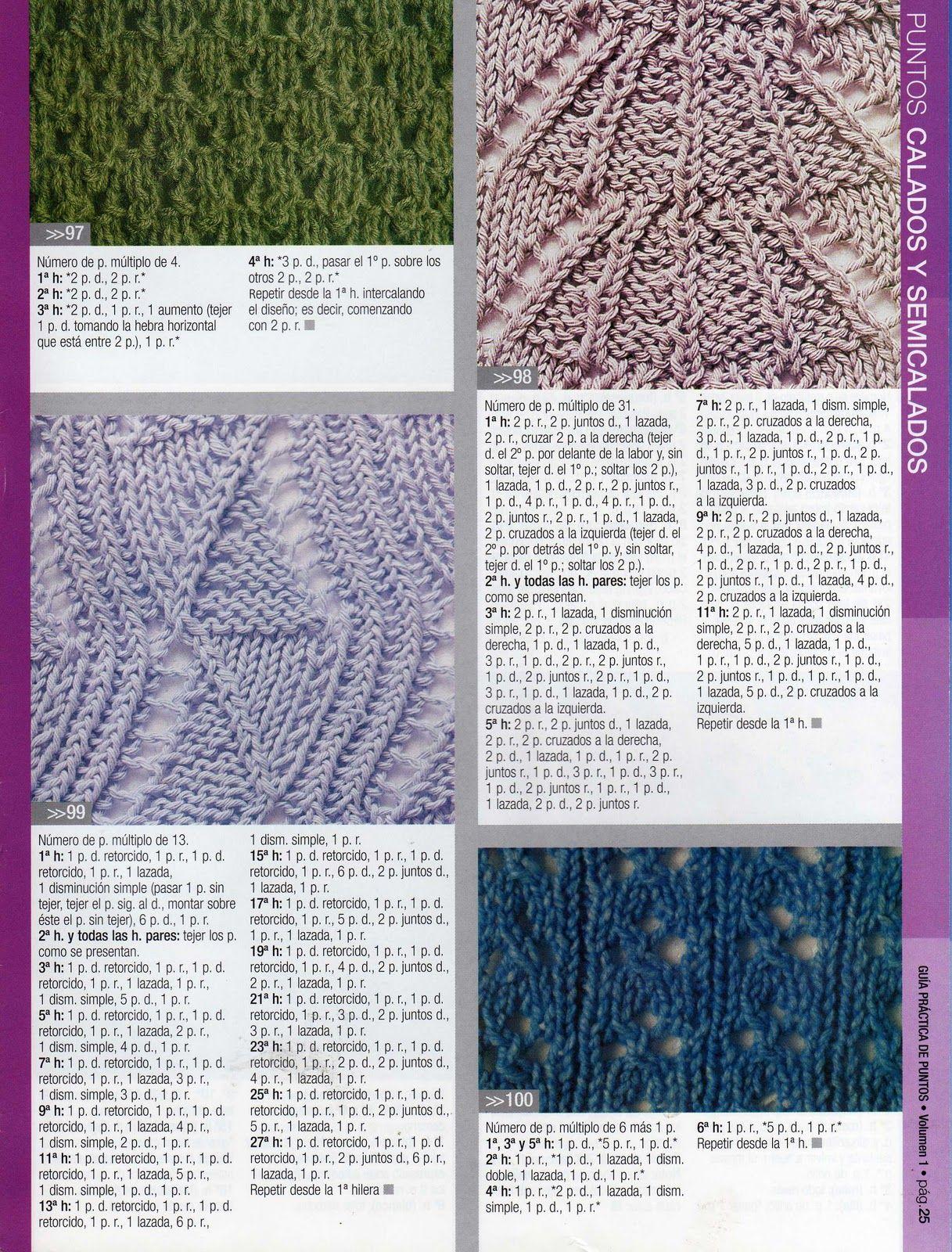 Puntos tejidos a dos agujas calados imagui tricot chal - Como empezar a hacer punto paso a paso ...