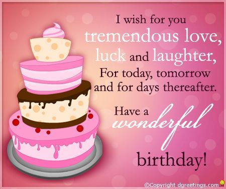 Pin by Daveena Hanson on Birthday Wishes Pinterest – Birthday Greetings for a Friend Quotes