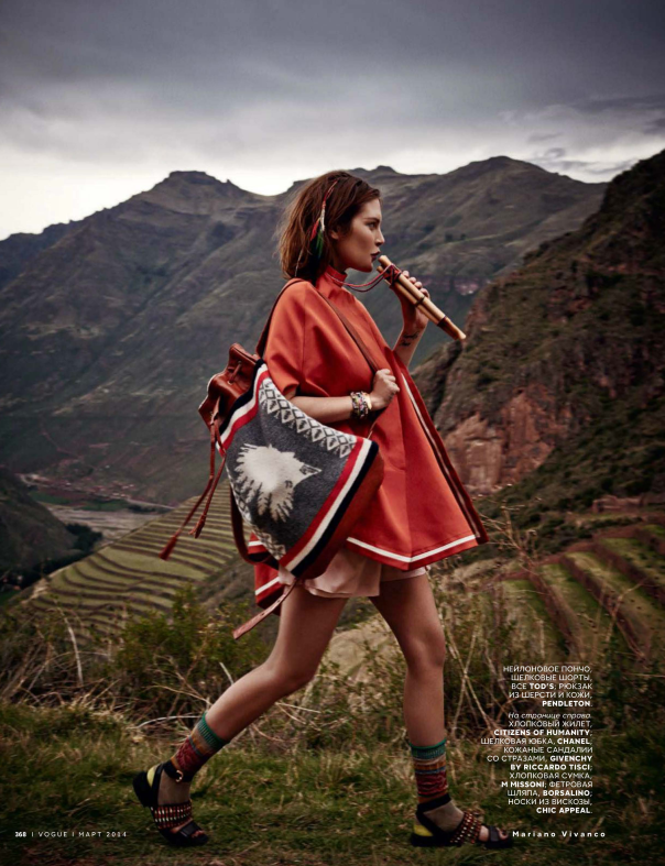 Catherine McNeil by Mariano Vivanco for Vogue Russia March 2014 - Inspiration by Color