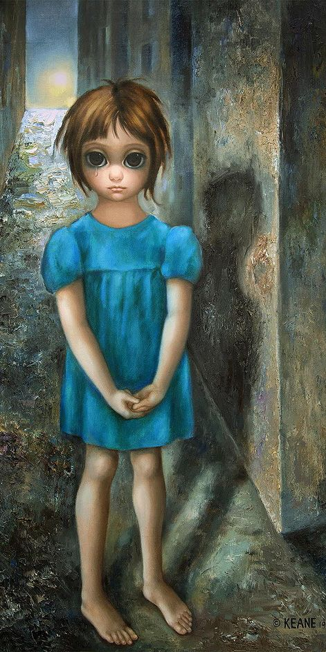 Big Eyes Girl in Blue Dress by Margaret Keane Big eyes