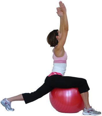try these yoga poses using an exercise ball with images
