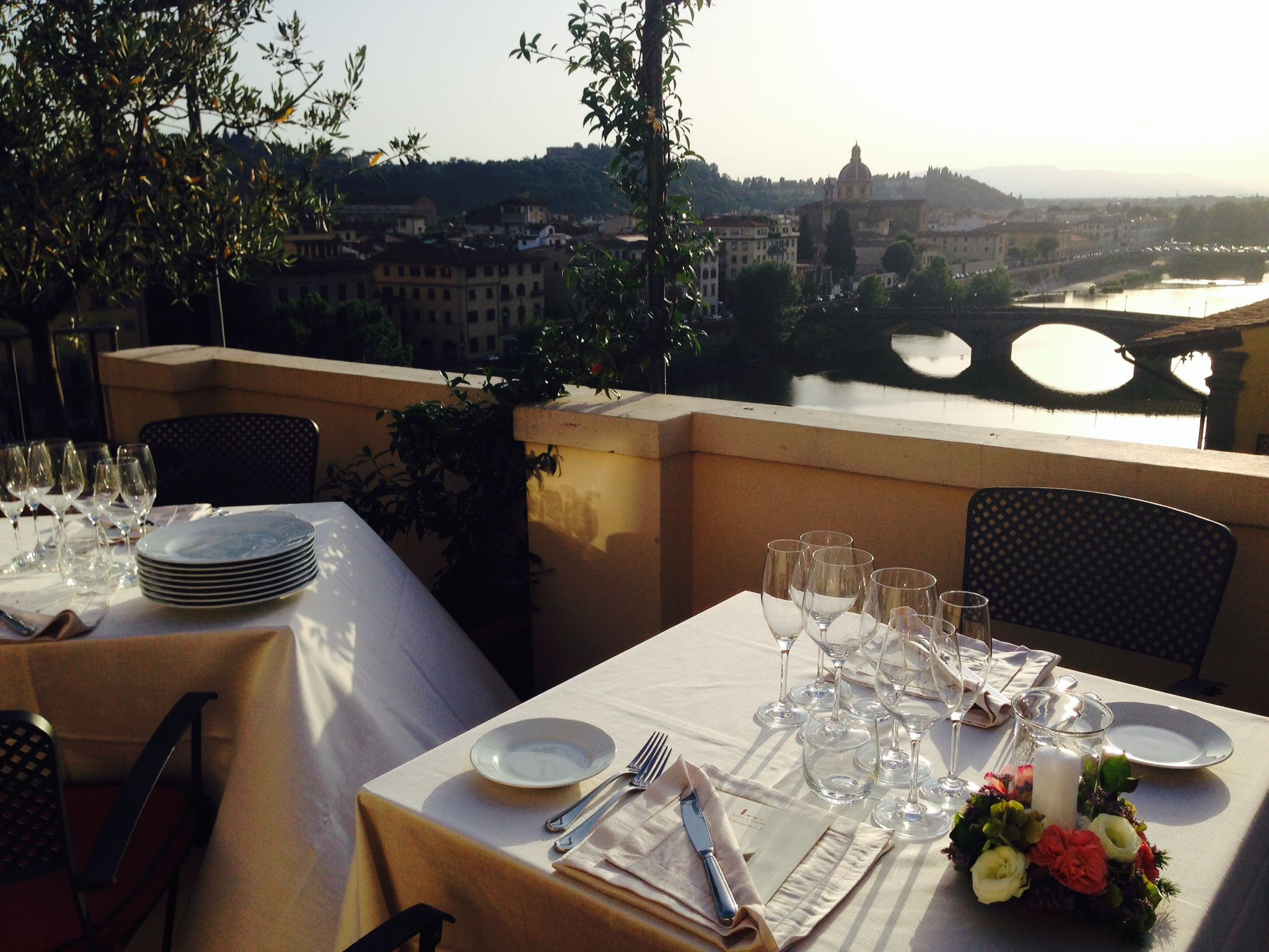 A fantastic view from the panoramic terrace of Florence | Antica Torre Tornabuoni n. 1 | this is the special location where Touch Florence organize private dinner and events