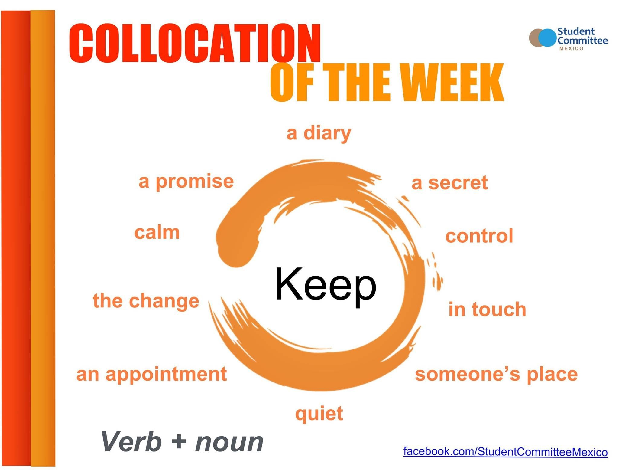 ' Keep' COLLOCATION OF THE WEEK