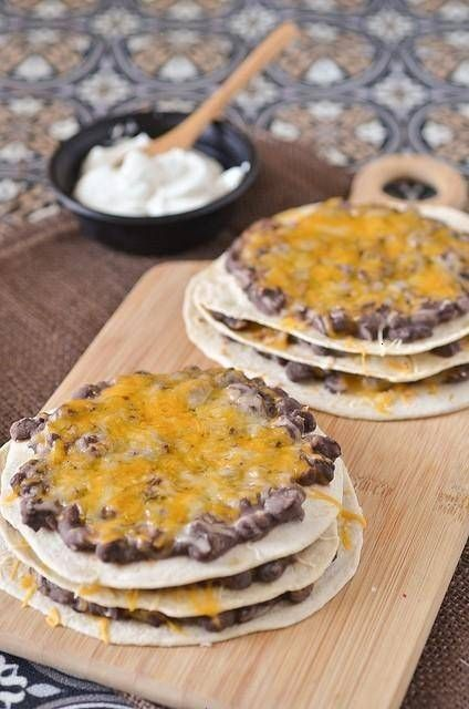 mexican triple-decker pizzas by pennies on a platter, via flickr