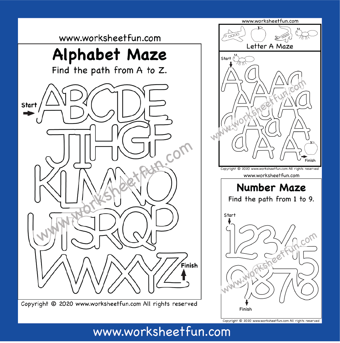 Letter Amp Number Mazes In