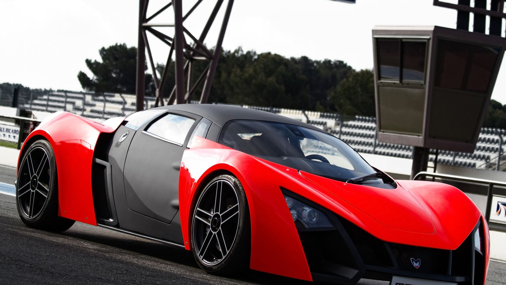 Sport Cars Wallpaper Hd 1080p: Marussia Red Sports Car - 1080p HD Wallpaper