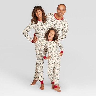 648a85601 Burt s Bees Baby Men s Holiday Snowflake Pajama Set - Ivory 2XL ...