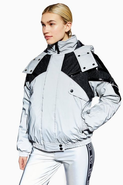 d13b2c6001c7c Womens   Reflective Jacket by Topshop SNO - Silver