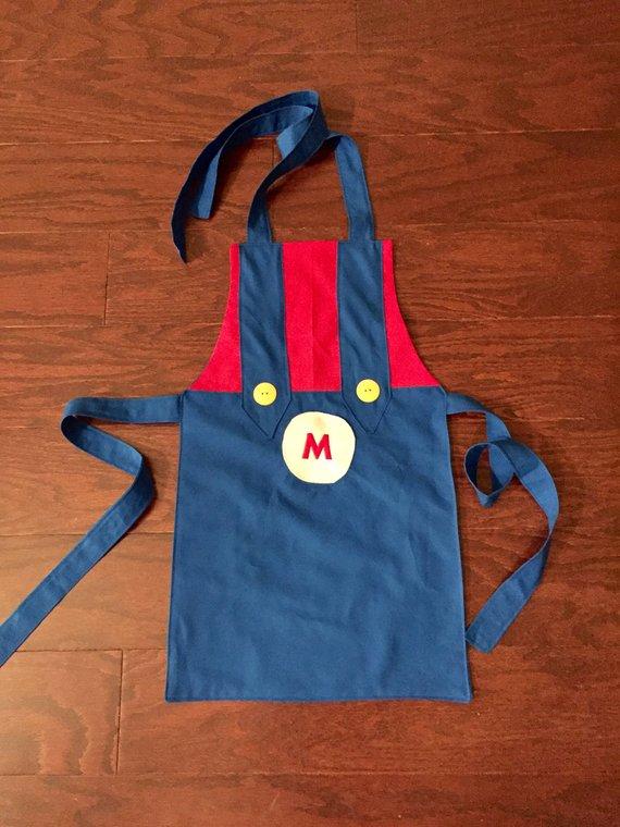 Pretend Play Mario And Luigi Apron Baking Girls Apron Boy Apron