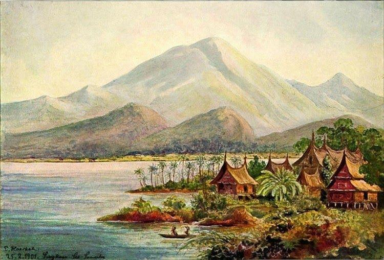10 Gambar Lukisan Pemandangan Beserta Deskripsinya Lukisan Ini Adalah Salah Satu Bagian Sejarah Budaya Barat Yang Terkenal Di 2020 Pemandangan Gambar Lukisan Rumah