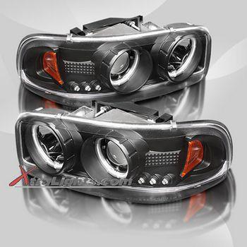 Brightest Green LED Halo Ring Headlight Kit for GMC Yukon 01-06