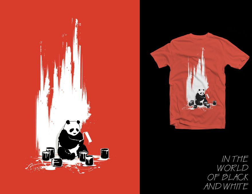 tee design cool t shirts t shirt designs shirt ideas panda bears black