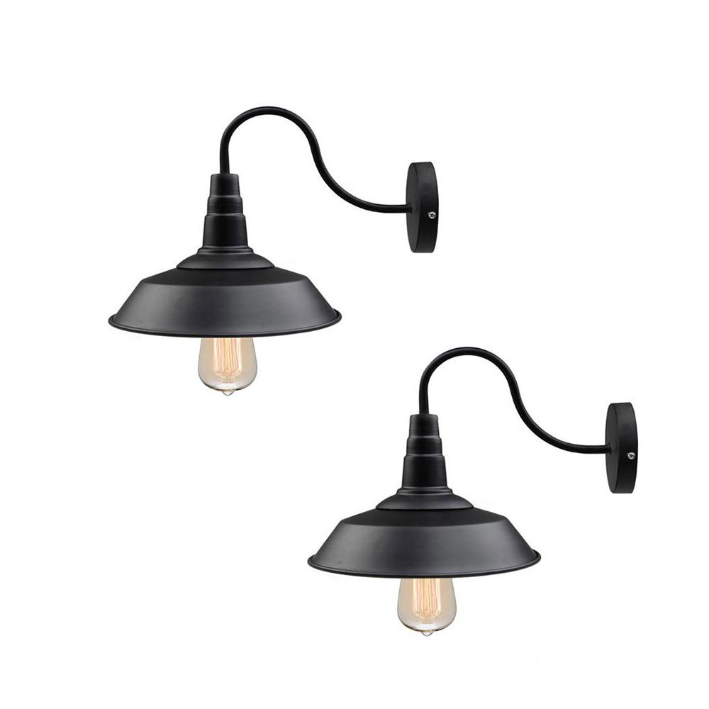 LNC 1Light Black Gooseneck Farmhouse Lighting Barn Sconce