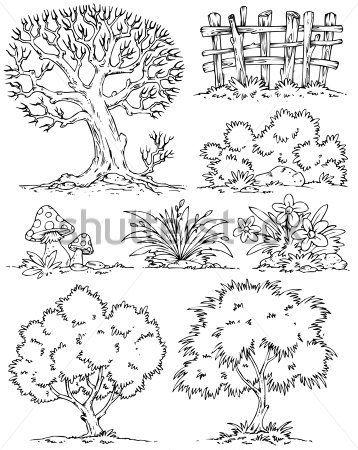 details+in+cartoon+tree Início u003e Premium u003e Natureza u003e Desenhos