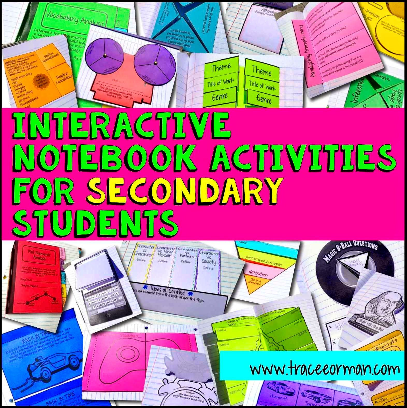 Interactive Notebook Examples And Templates Mrs Orman S