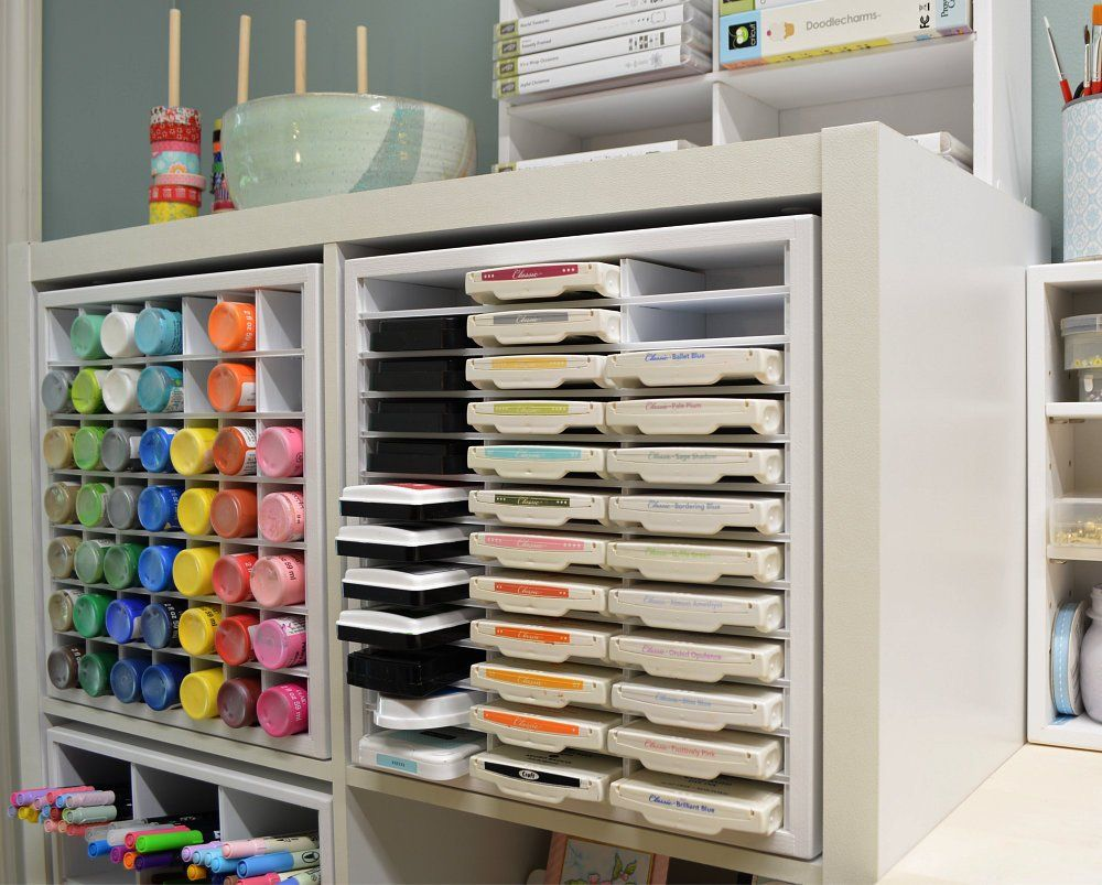 Storage Solutions For Craft Rooms: 36 Ink Pad Organizer (fits IKEA)