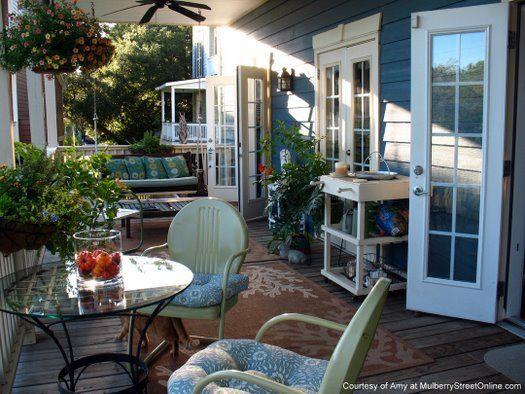 Vintage Metal Furniture Back Porch Designs Porch Design Porch