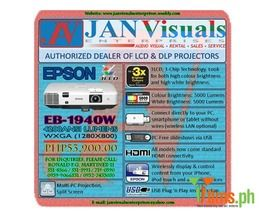 Epson EB-1945W HDMI 4000-4200 ANSI Lumens LCD Projector