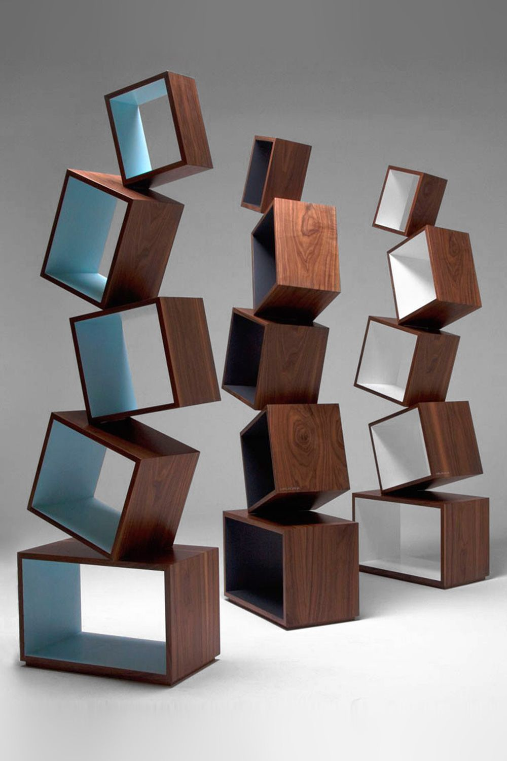 Equilibrium Bookcase Walnut By Malagana Design From Colombia  # Muebles Full House Colombia