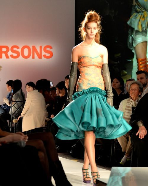 Parsons fashion design thesis show - graduating class of 2012.