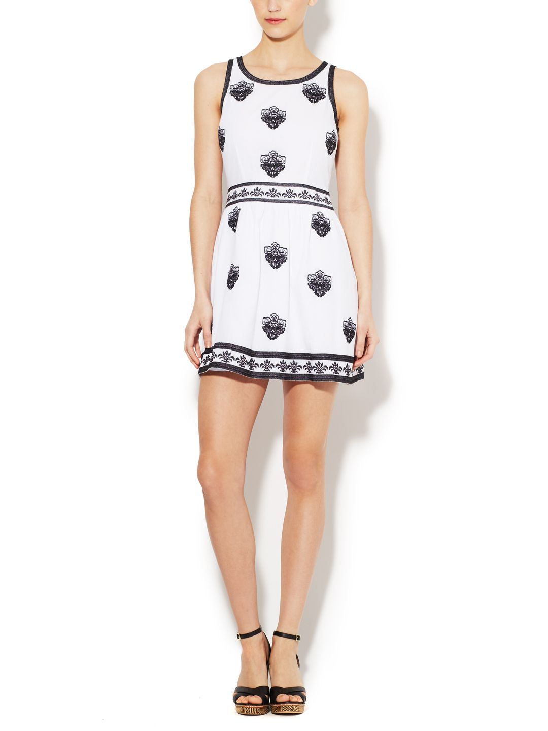 Embroidered Fit and Flare Dress by POPPYLARK at Gilt