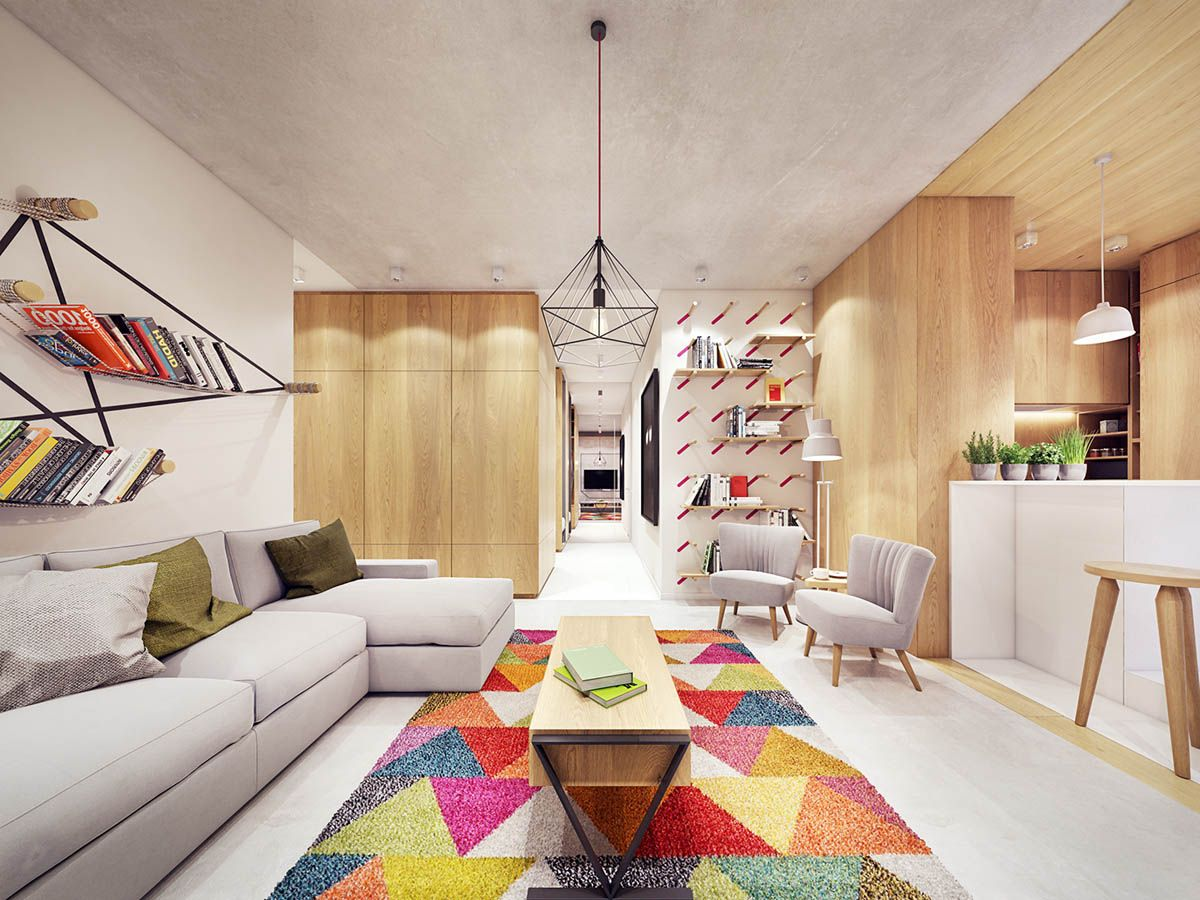 comfortable modern home with colorful accents interior also house tours rh pinterest