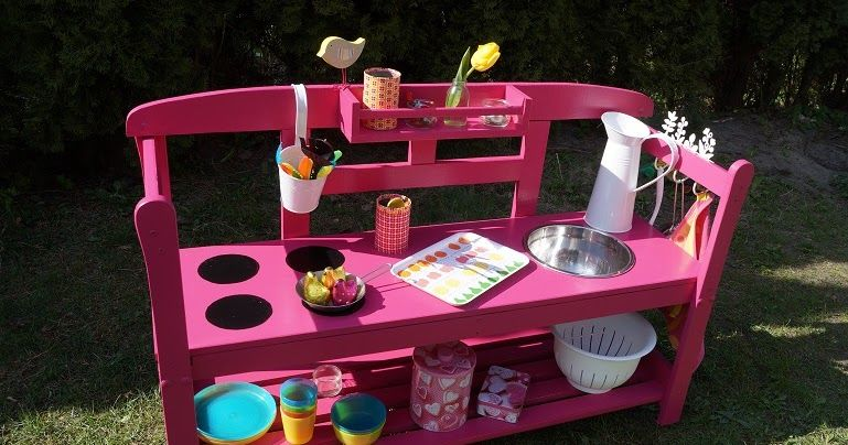 sommerk che bauen matschk che bauen wasserspielk che kinderspiel kinderk che outdoork che. Black Bedroom Furniture Sets. Home Design Ideas
