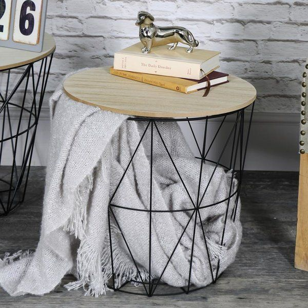 Youll love the crouse metal wire basket wooden top side table at youll love the crouse metal wire basket wooden top side table at wayfair great deals on all furniture products with free shipping on most greentooth Images