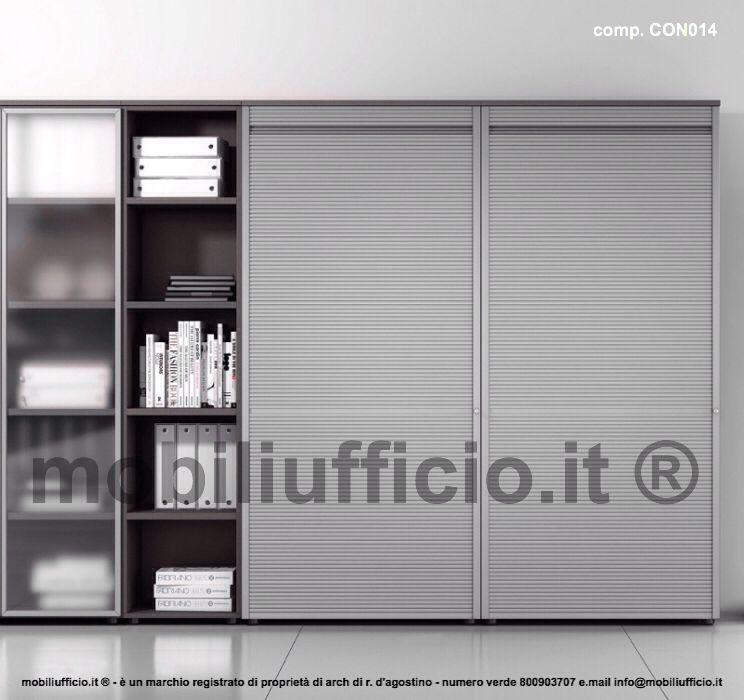 Armadio Con Ante A Serrandina.Comp Con014 Libreria Per Ufficio Con Elementi A Serrandina