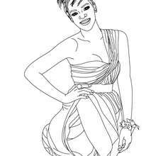 Rihanna R Amp B Singer Coloring Page Coloring Page Famous