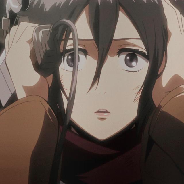 Mikasa Ackerman icon in 2020 Attack on titan anime