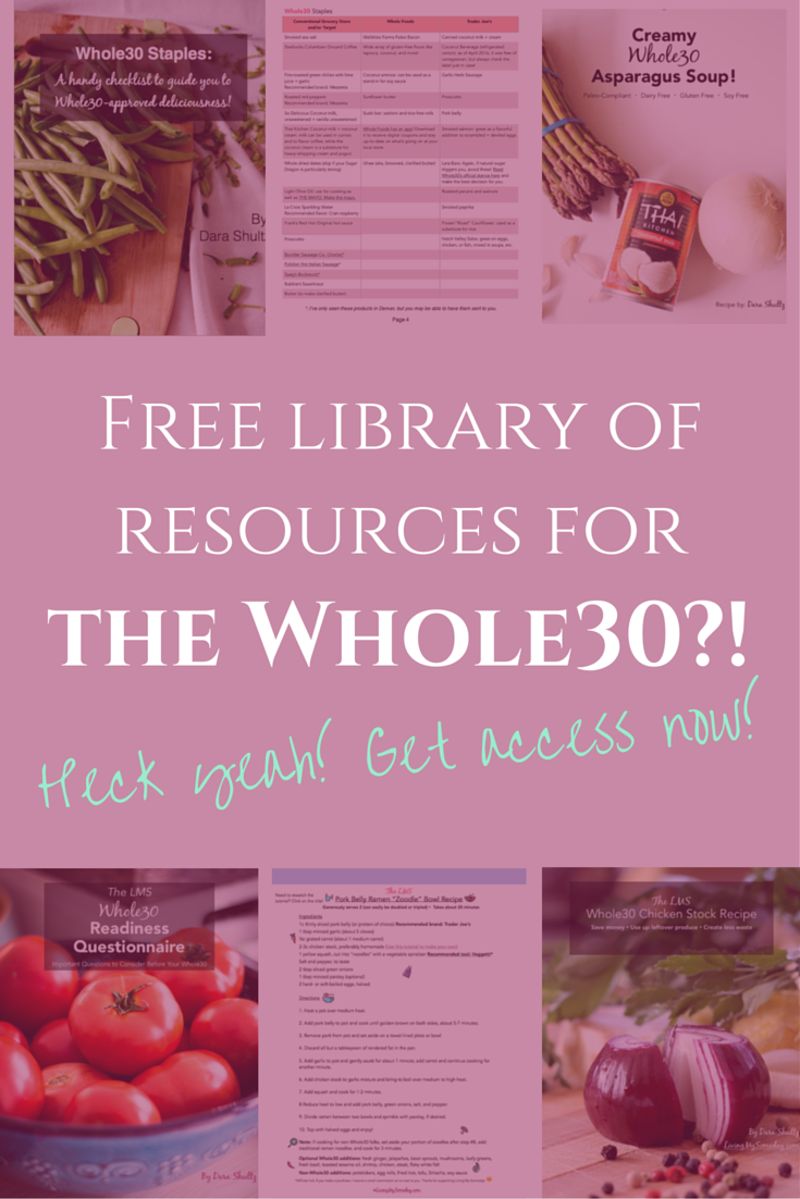 Click through to gain access to my FREE library of resources for the Whole30, your blog/business, and more!