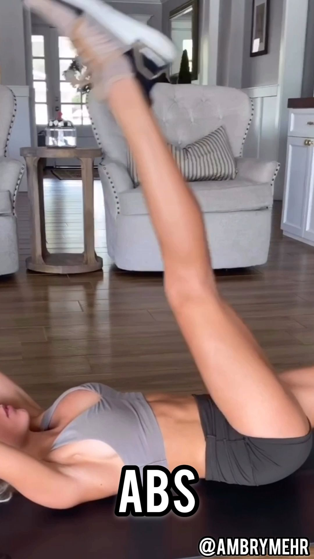 At Home Abs- Follow @ambrymehr IG for daily workouts!