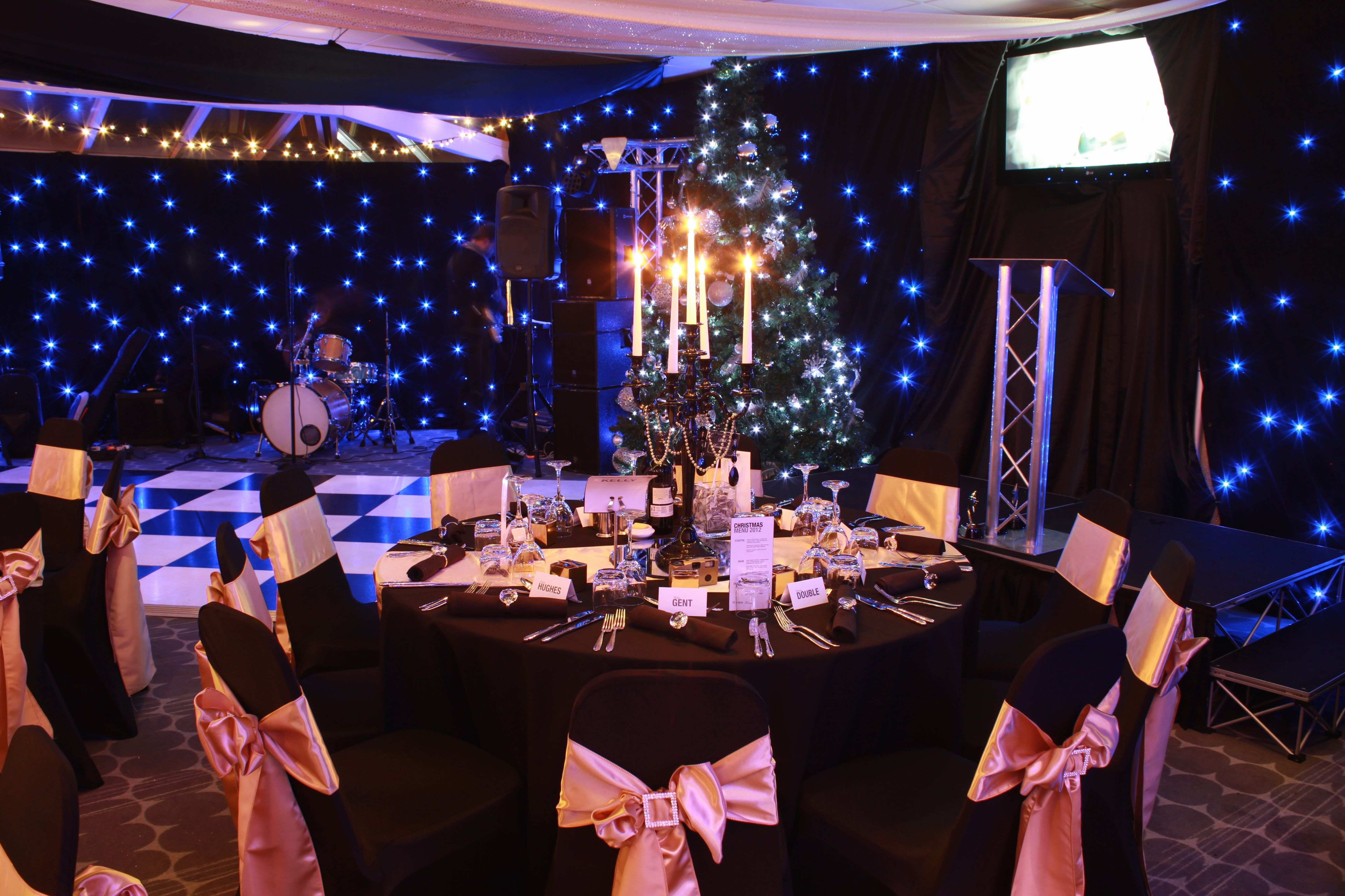 Christmas Parties At Chester Racecourse Table Decorations Chester Racecourse Christmas Party