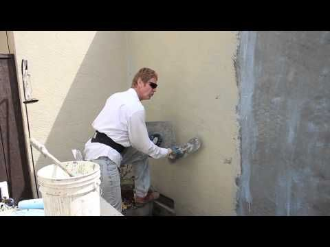 Re Coat A Painted Wall With New Stucco Complete Resurfacing Youtube Stucco Stucco Repair Stucco Walls