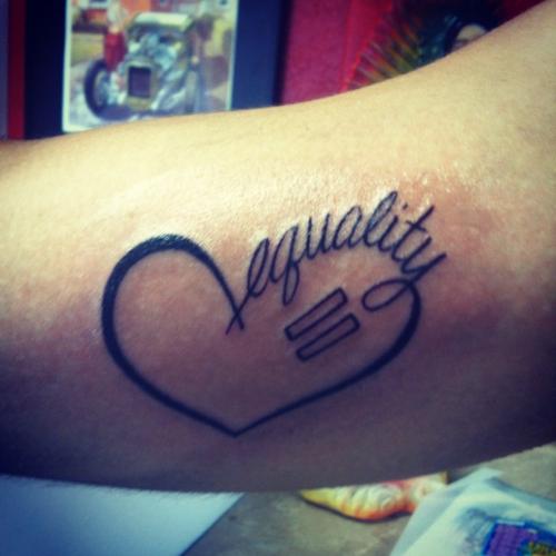 Equality Inspirational Tattoos Equality Tattoos Cool Tattoos