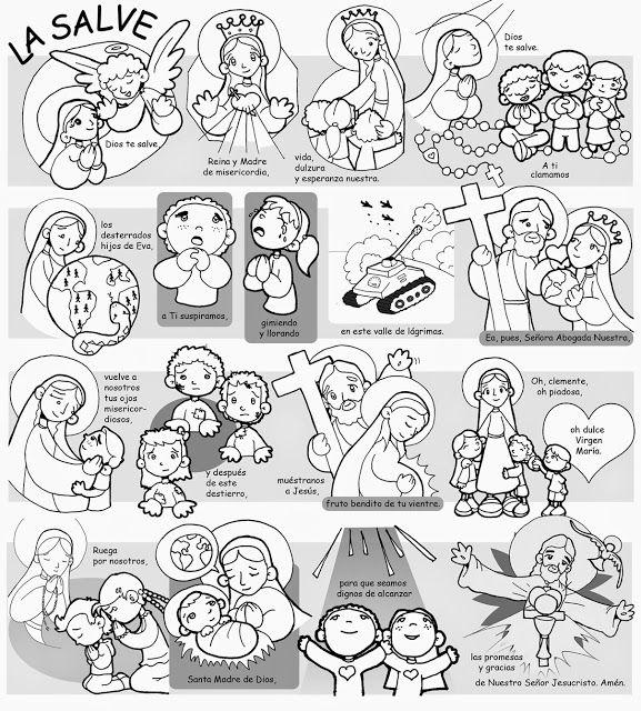 La Catequesis Aprendemos Las Oraciones Básicas Con Dibujos Catequesis Oraciones Basicas Oraciones Para Niños